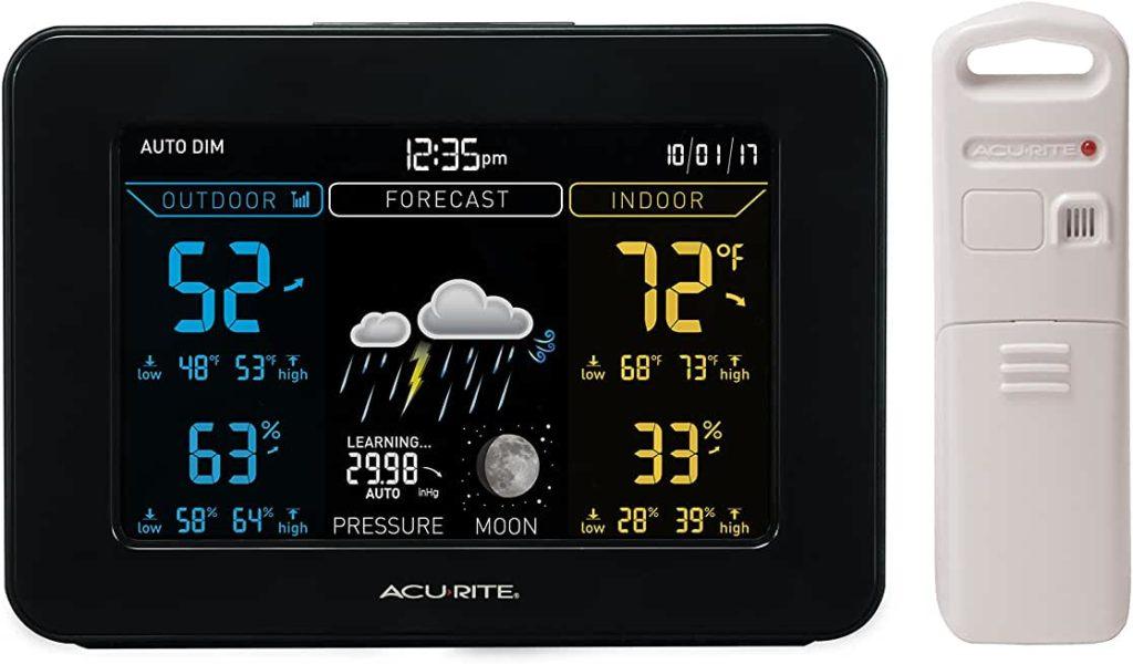 выбрать метеостанцию для дома - AcuRite 02027A1 Color Weather Station