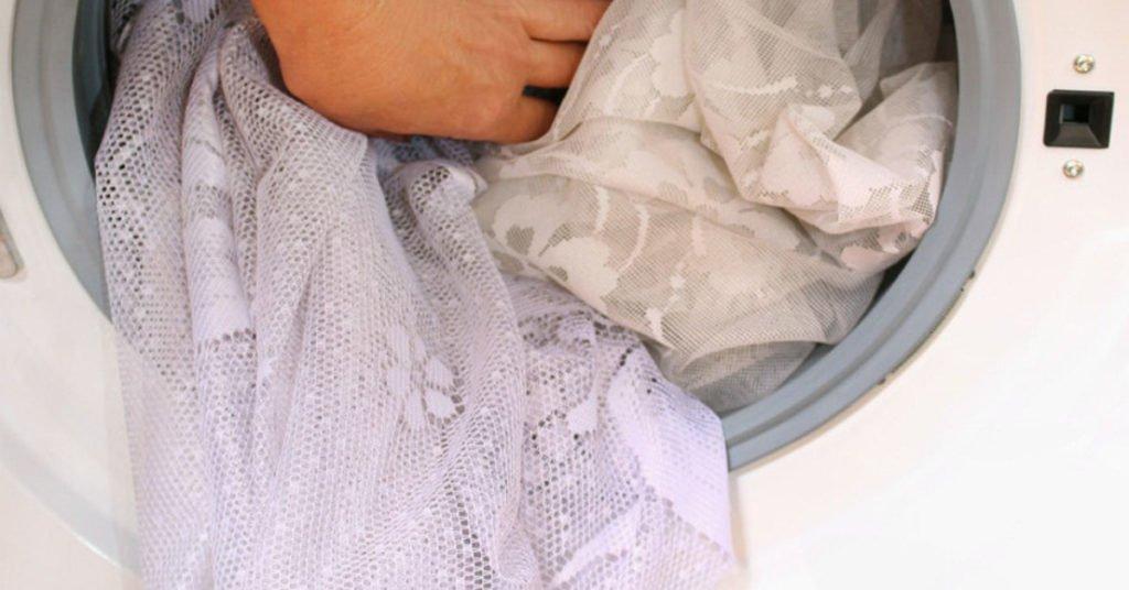 как правильно отбелить тюль в стиральной машине
