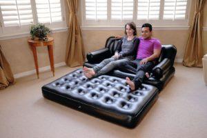 как выбрать надувной матрас для сна: диван - матрас