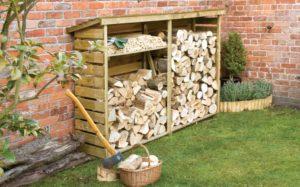 Как хранить дрова на улице
