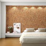 Отделочные материалы, для отделки стен внутри дома: пробковые обои