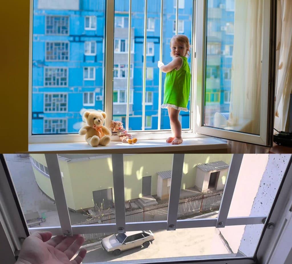 защита для детей на окна