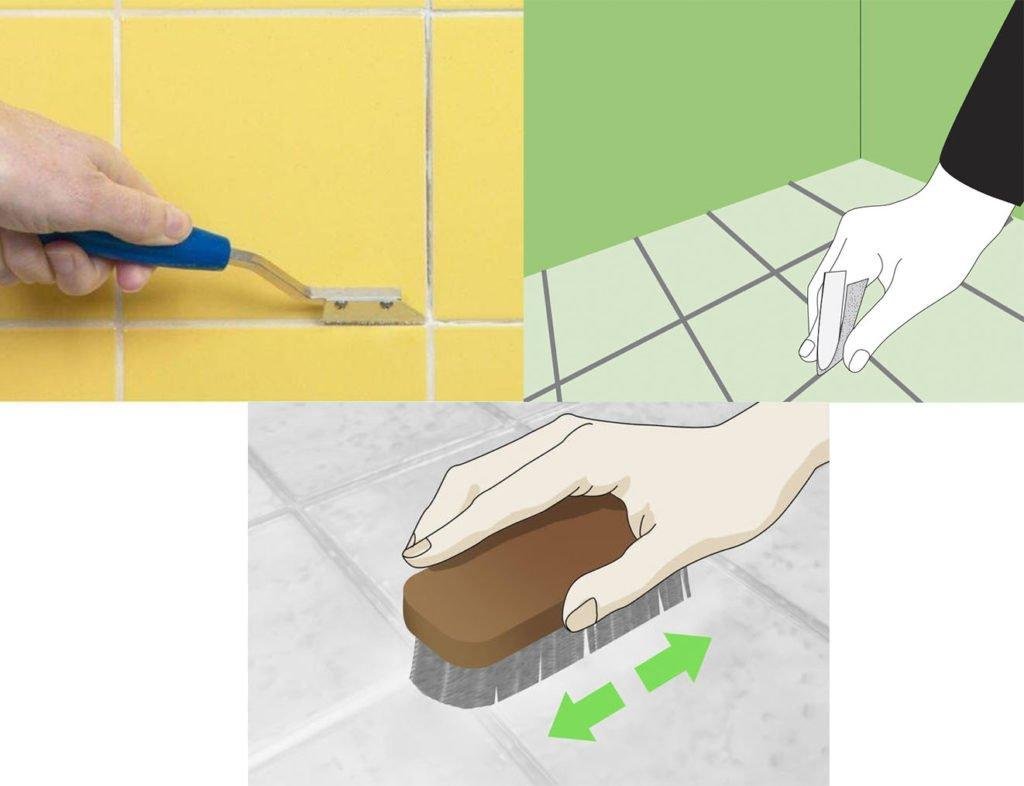 чем очистить швы между плитками на кухне