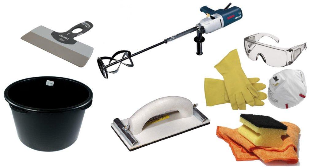 инструменты для затирки швов в плитке