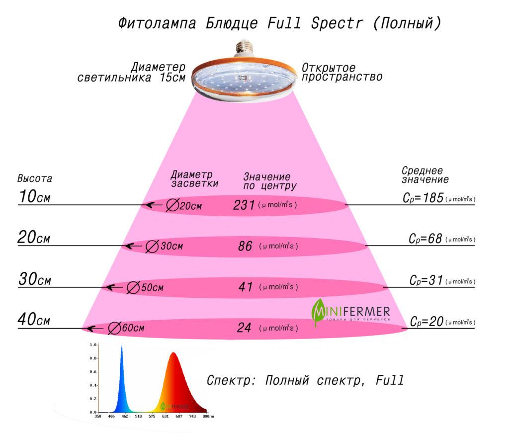 Спектр фитолампы