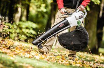 Как выбрать садовый пылесос для сбора листьев